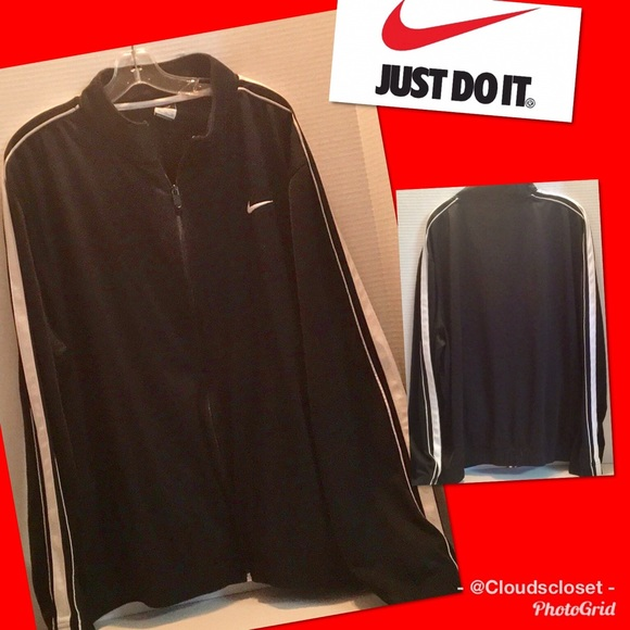 217eb16c4 Nike Jackets & Coats | Zip Track Jacket Bw 2xl Logo Pockets Euc ...